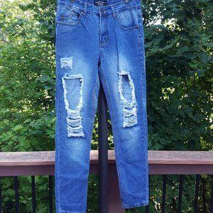 NWT boohoo Slim Fit Vintage Wash Ripped Jeans 30